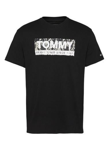 Tommy Hilfiger Erkek Tjm Aop Logo Tee Tişört DM0DM08671BDS Renkli